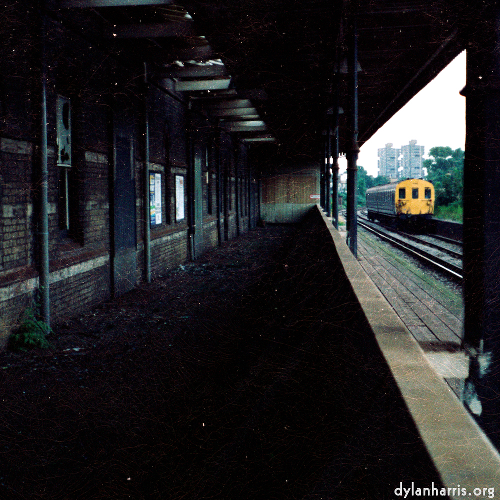 Clapham station, London, as was, from the mid 1980s.